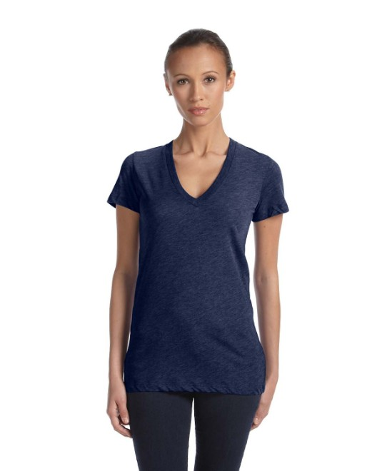 Picture of Bella + Canvas 8435 Womens Triblend Short-Sleeve Deep V-Neck T-Shirt
