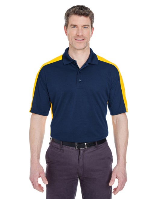 Picture of UltraClub 8447 Adult Cool & Dry Stain-Release Two-Tone Performance Polo