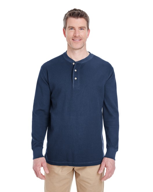 Picture of UltraClub 8456 Adult Mini Thermal Henley