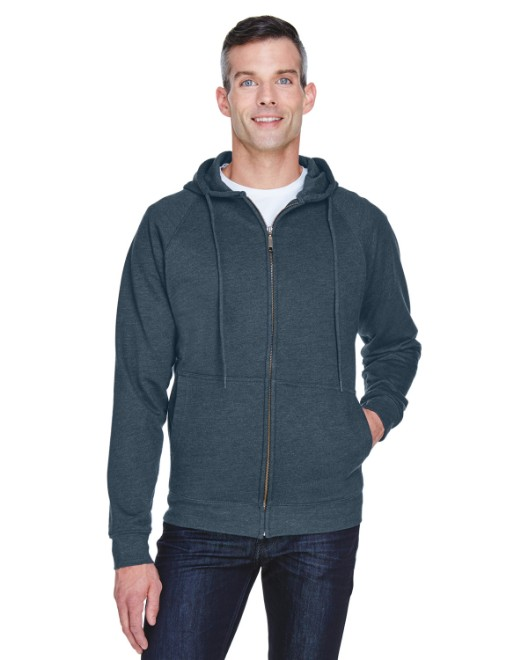 Picture of UltraClub 8463 Adult Rugged Wear Thermal-Lined Full-Zip Hooded Fleece
