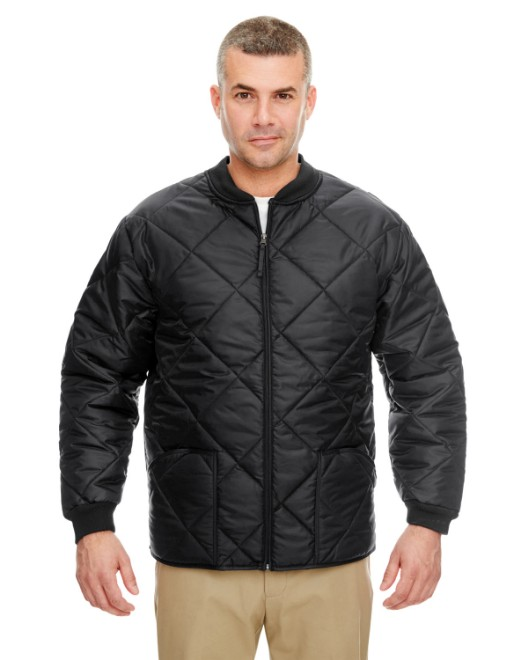 Picture of UltraClub 8467 Adult Puffy Workwear Jacket with Quilted Lining