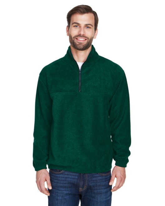 Picture of UltraClub 8480 Adult Iceberg Fleece Quarter-Zip Pullover