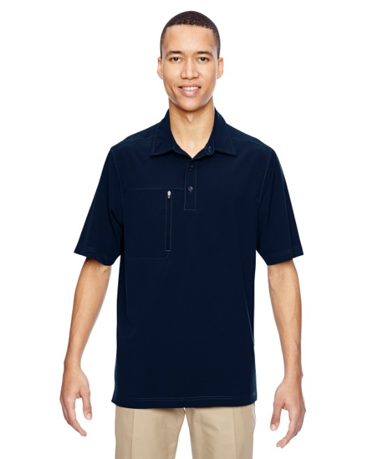 Picture of Ash City - North End 85120 Men's Excursion Crosscheck Woven Polo