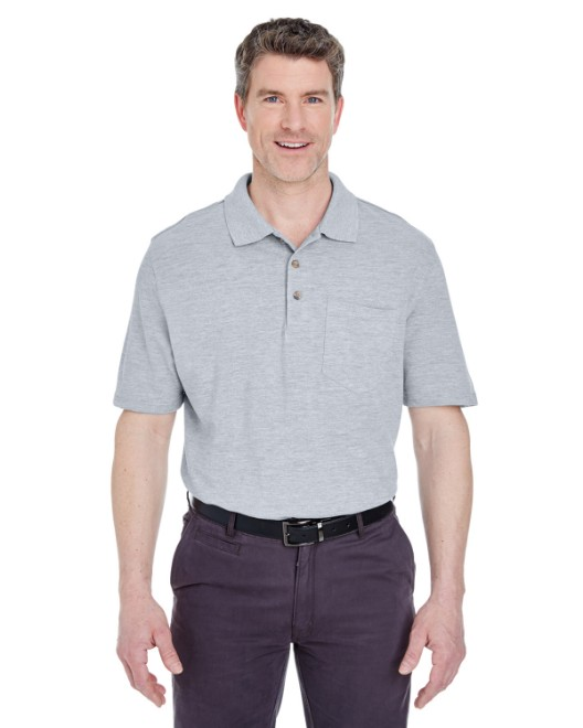 Picture of UltraClub 8534 Adult Classic Pique Polo with Pocket