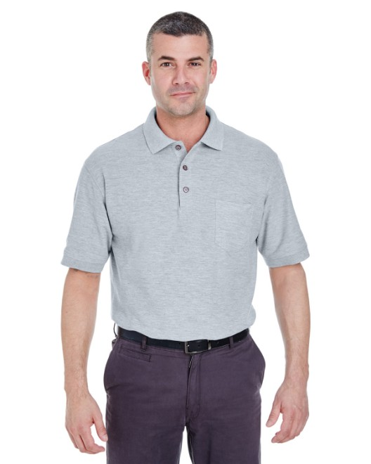 Picture of UltraClub 8544 Adult Whisper Pique Polo with Pocket