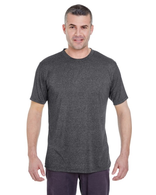 Picture of UltraClub 8619 Men's Cool & Dry Heathered Performance T-Shirt