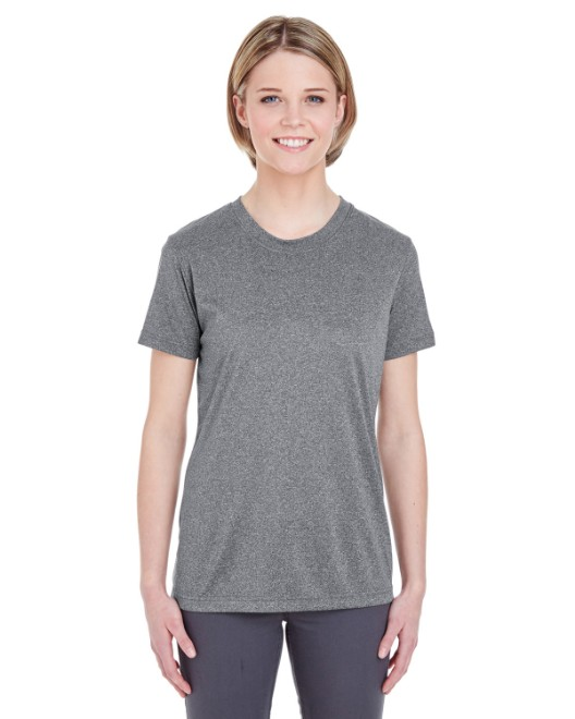 Picture of UltraClub 8619L Womens  Cool & Dry Heathered Performance T-Shirt