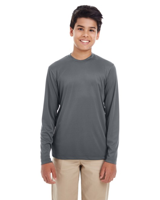 Picture of UltraClub 8622Y Youth Cool & Dry Performance Long-Sleeve Top
