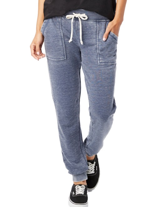 Picture of Alternative 8632F Womens Long Weekend Burnout French Terry Pants