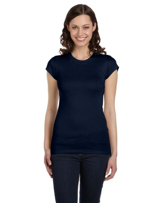 Picture of Bella + Canvas 8701 Womens Sheer Mini Rib Short-Sleeve T-Shirt