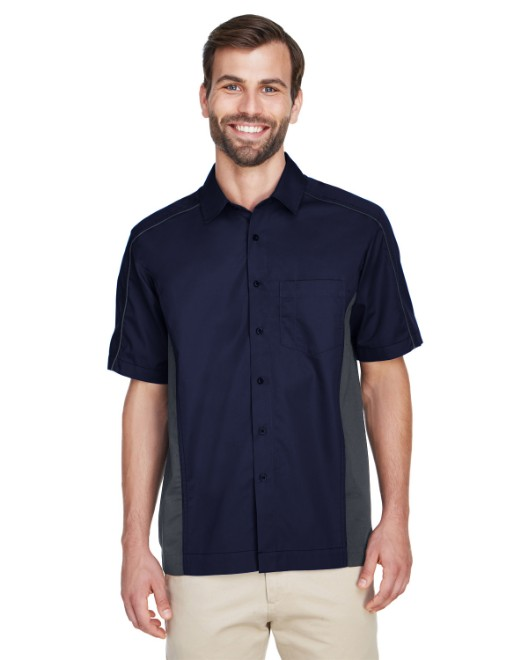 Picture of Ash City - North End 87042 Men's Fuse Colorblock Twill Shirt