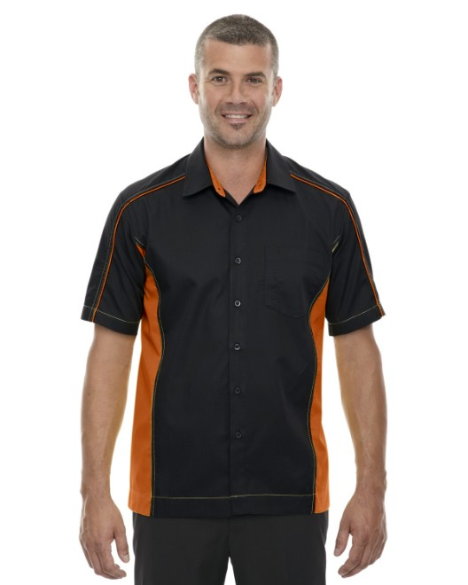 Picture of Ash City - North End 87042T Men's Tall Fuse Colorblock Twill Shirt