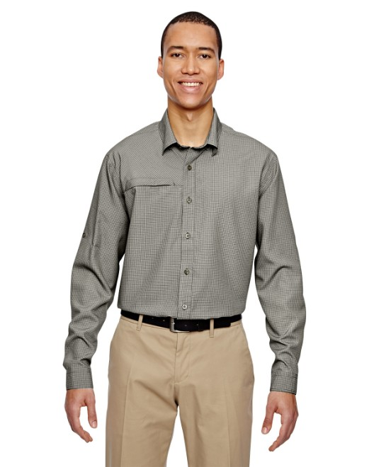 Picture of Ash City - North End 87046 Men's Excursion F.B.C. Textured Performance Shirt