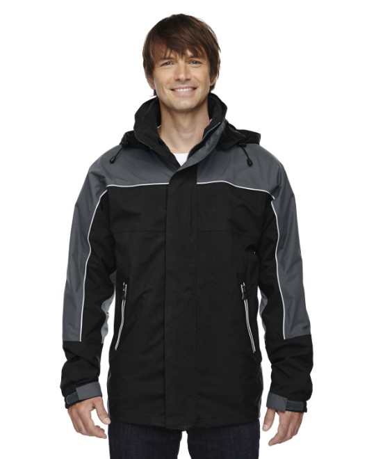 Picture of Ash City - North End 88052 Adult 3-in-1 Seam-Sealed Mid-Length Jacket with Piping