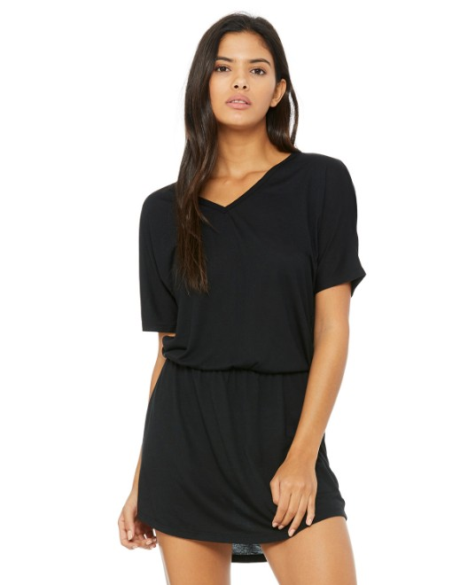 Picture of Bella + Canvas 8812 Womens Flowy V-Neck Dress
