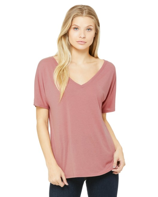 Picture of Bella + Canvas 8815 Womens Slouchy V-Neck T-Shirt