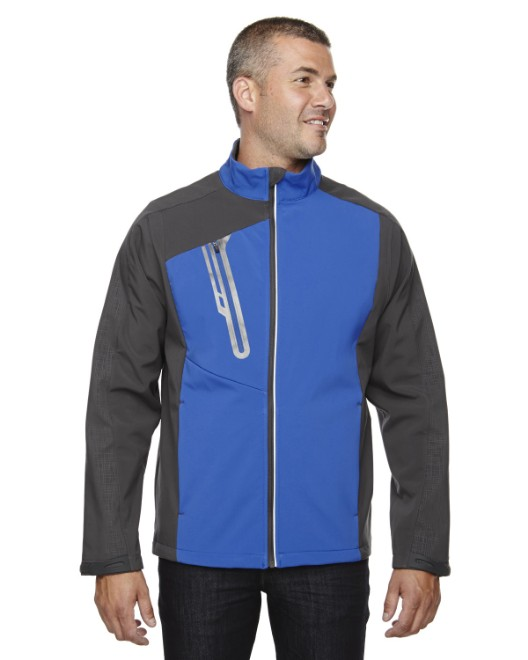 Picture of Ash City - North End 88176 Men's Terrain Colorblock Soft Shell with Embossed Print