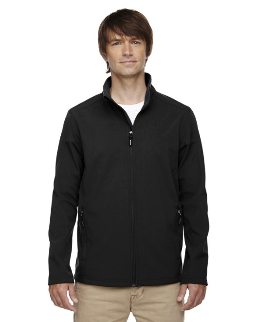 Picture of Ash City - Core 365 88184T Men's Tall Cruise Two-Layer Fleece Bonded Soft Shell Jacket