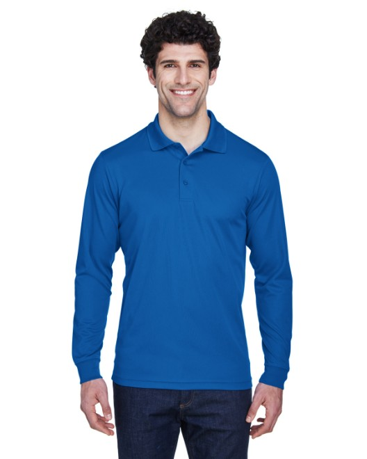 Picture of Ash City - Core 365 88192 Men's Pinnacle Performance Long-Sleeve Pique Polo