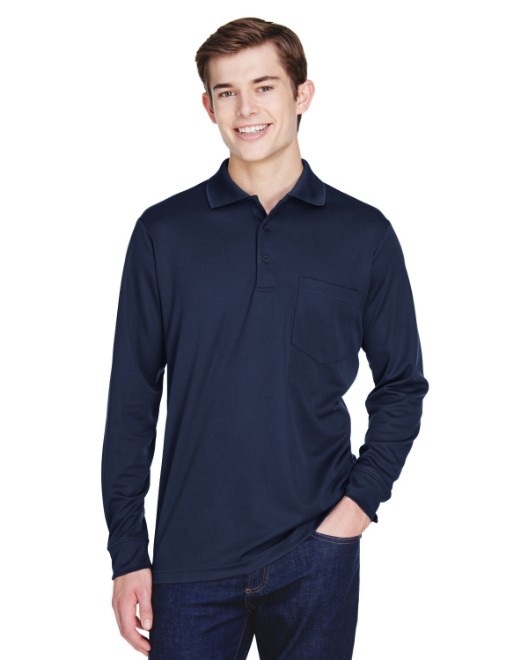 Picture of Ash City - Core 365 88192P Adult Pinnacle Performance Long-Sleeve Pique Polo with Pocket