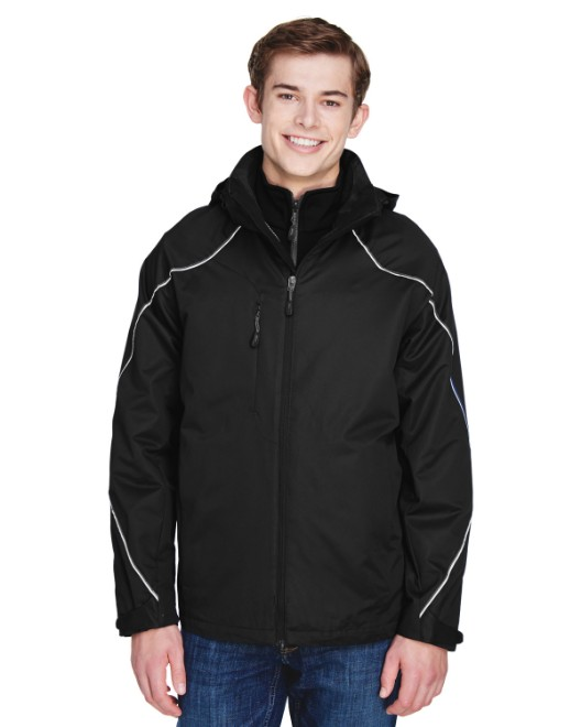 Picture of Ash City - North End 88196 Men's Angle 3-in-1 Jacket with Bonded Fleece Liner