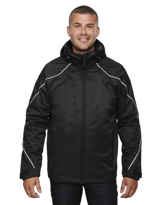 Picture of Ash City - North End 88196T Men's Tall Angle 3-in-1 Jacket with Bonded Fleece Liner