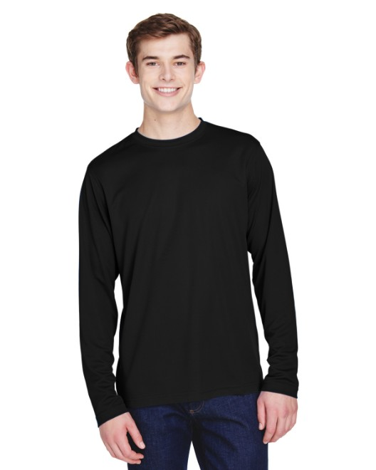 Picture of Ash City - Core 365 88199 Men's Agility Performance Long-Sleeve Pique Crewneck