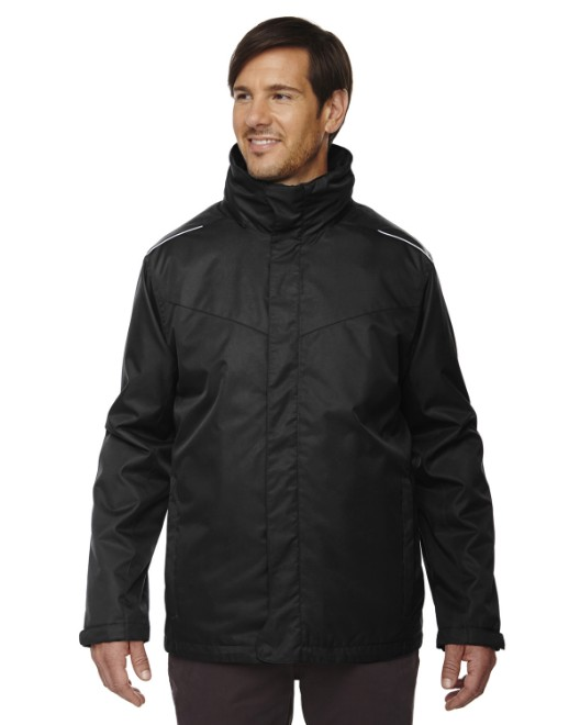Picture of Ash City - Core 365 88205T Men's Tall Region 3-in-1 Jacket with Fleece Liner