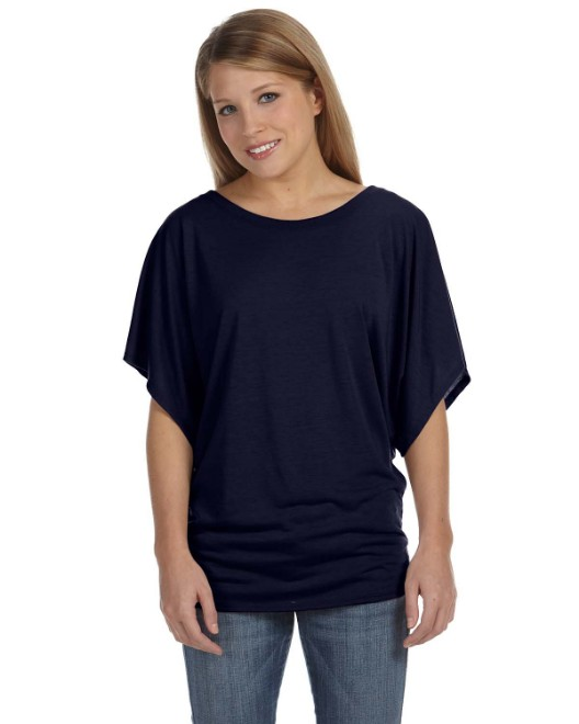 Picture of Bella + Canvas 8821 Womens Flowy Draped Sleeve Dolman T-Shirt