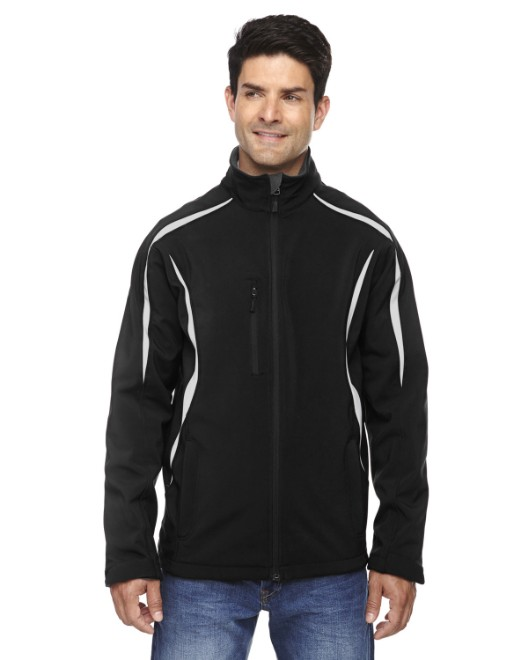 Picture of Ash City - North End 88650 Men's Enzo Colorblocked Three-Layer Fleece Bonded Soft Shell Jacket