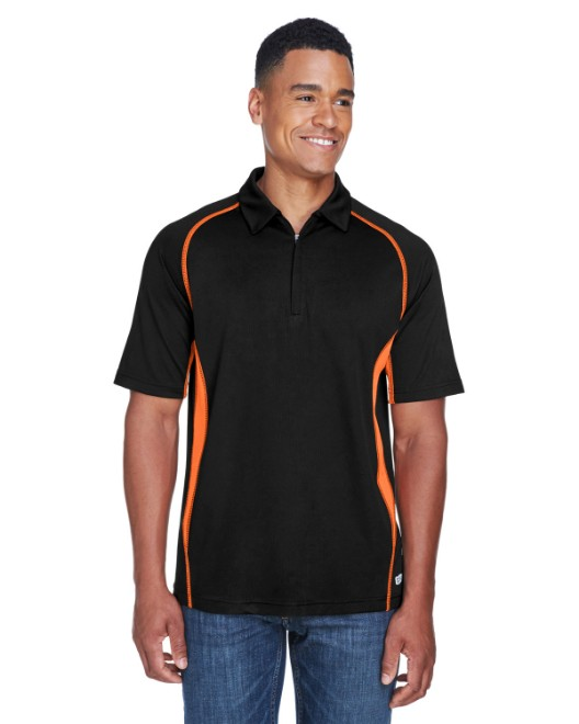 Picture of Ash City - North End 88657 Men's Serac UTK cool?logik Performance Zippered Polo