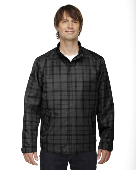 Picture of Ash City - North End 88671 Men's Locale Lightweight City Plaid Jacket