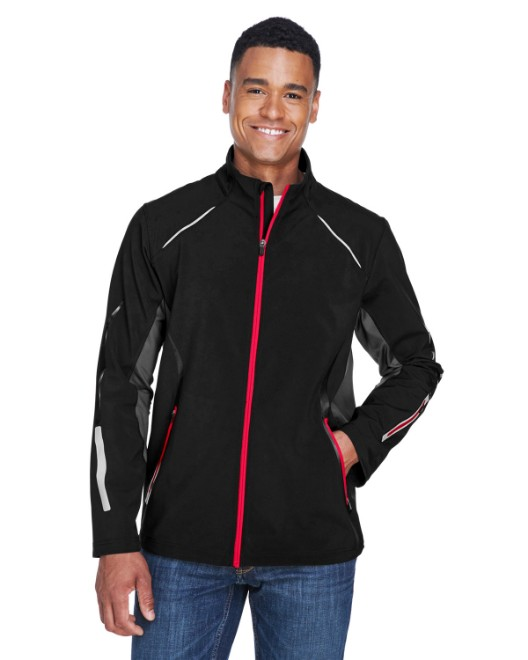 Picture of Ash City - North End 88678 Men's Pursuit Three-Layer Light Bonded Hybrid Soft Shell Jacket with Laser Perforation