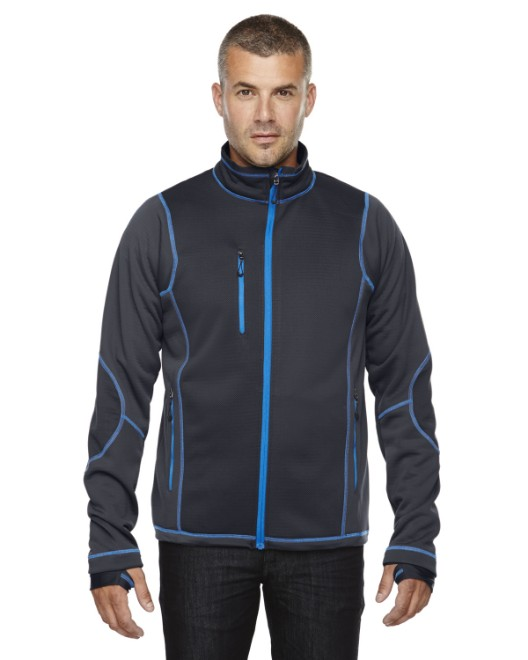 Picture of Ash City - North End 88681 Men's Pulse Textured Bonded Fleece Jacket with Print