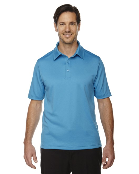 Picture of Ash City - North End 88803 Men's Exhilarate Coffee Charcoal Performance Polo with Back Pocket