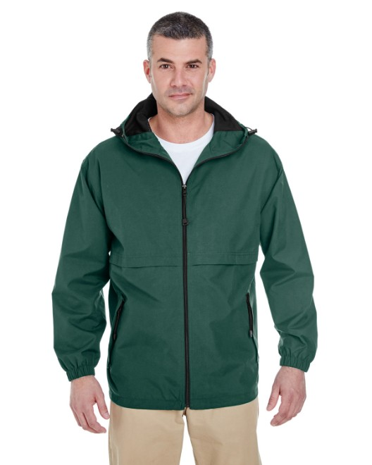 Picture of UltraClub 8908 Adult Microfiber Full-Zip Hooded Jacket