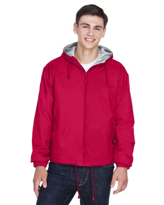 Picture of UltraClub 8915 Adult Fleece-Lined Hooded Jacket