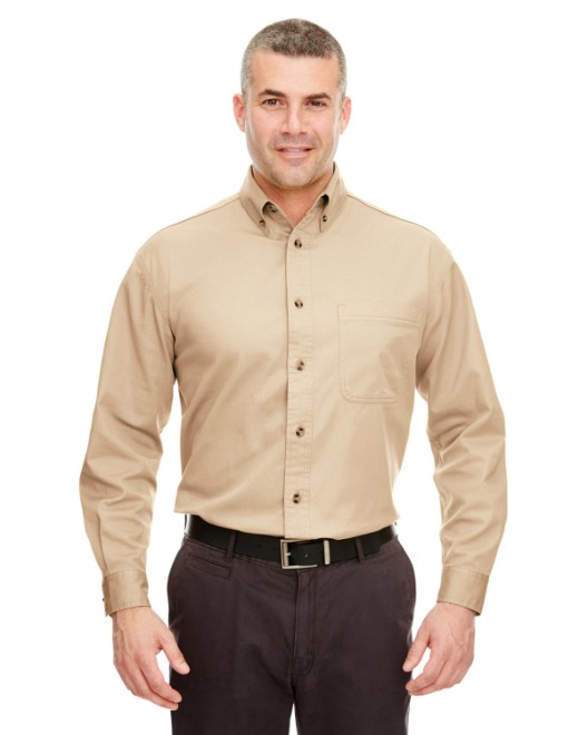 Picture of UltraClub 8960C Adult Cypress Long-Sleeve Twill with Pocket