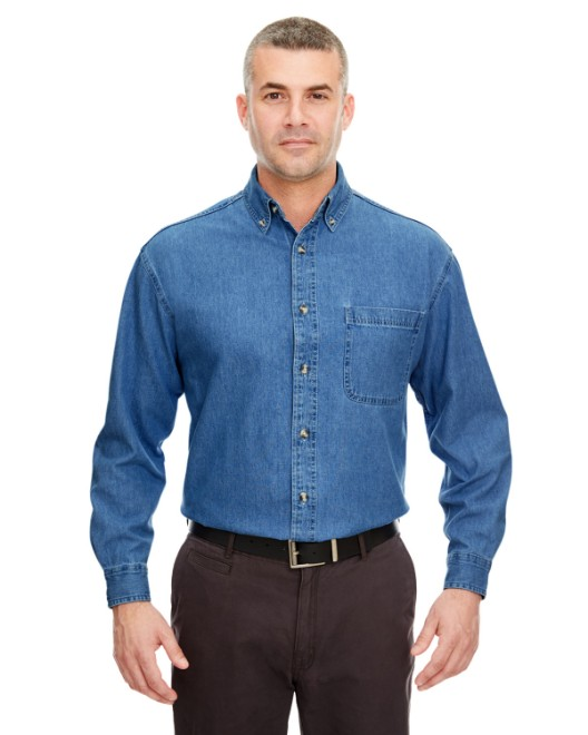 Picture of UltraClub 8960T Men's Tall Cypress Denim with Pocket