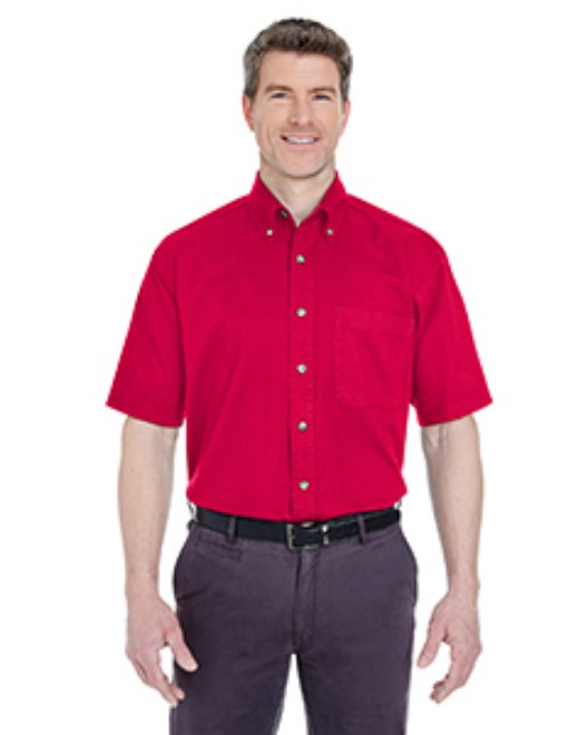 Picture of UltraClub 8965C Adult Cypress Short-Sleeve Twill with Pocket