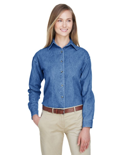 Picture of UltraClub 8966 Womens Cypress Denim