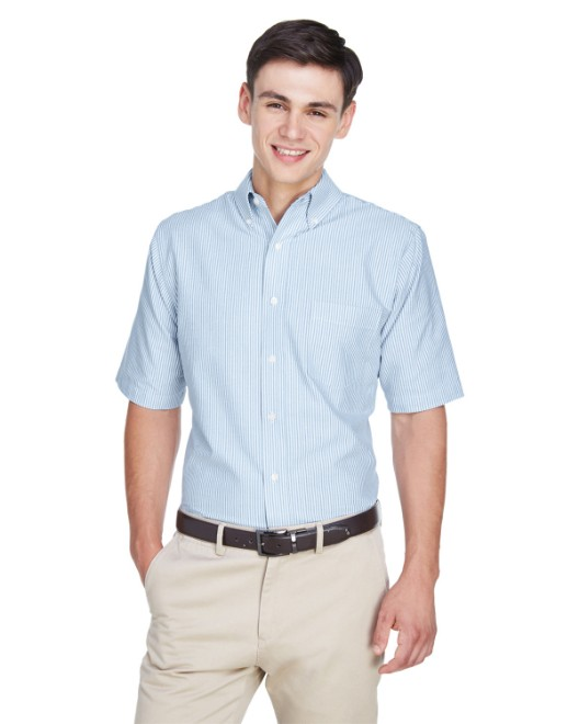 Picture of UltraClub 8972 Men's Classic Wrinkle-Resistant Short-Sleeve Oxford