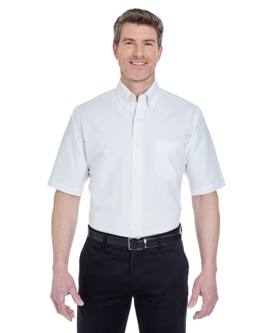 Picture of UltraClub 8972T Men's Tall Classic Wrinkle-Resistant Short-Sleeve Oxford