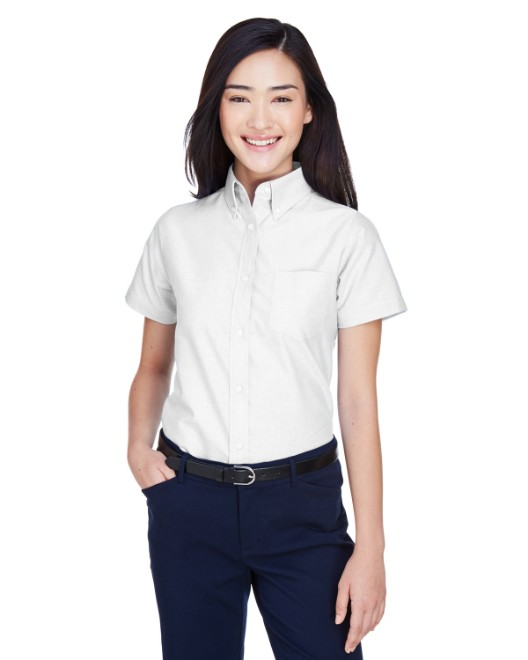 Picture of UltraClub 8973 Womens Classic Wrinkle-Resistant Short-Sleeve Oxford