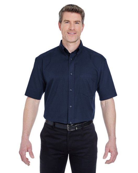 Picture of UltraClub 8977 Adult Short-Sleeve Whisper Twill