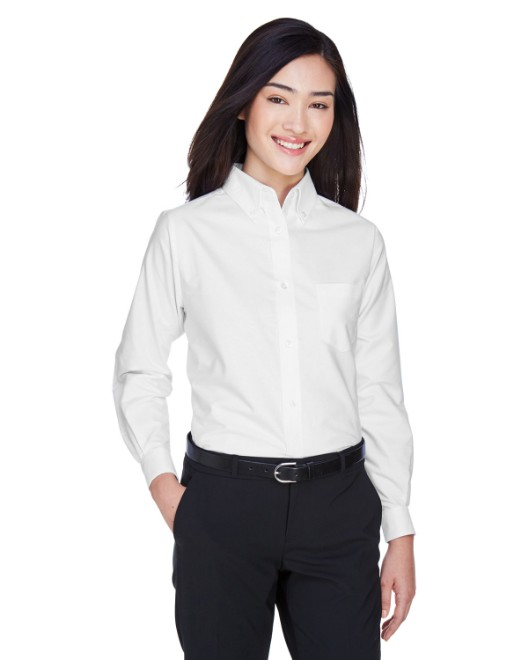 Picture of UltraClub 8990 Womens Classic Wrinkle-Resistant Long-Sleeve Oxford