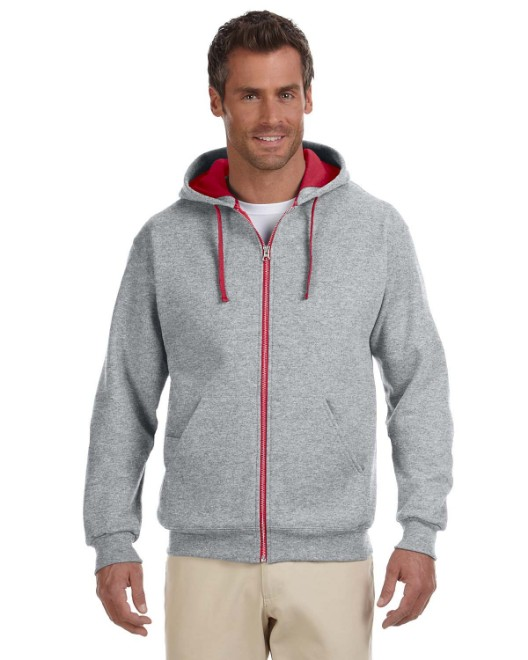 Picture of Jerzees 93CR Adult 8 oz. NuBlend Contrast Full-Zip Hood