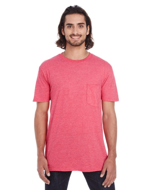 Picture of Anvil 983 Adult Lightweight Pocket T-Shirt