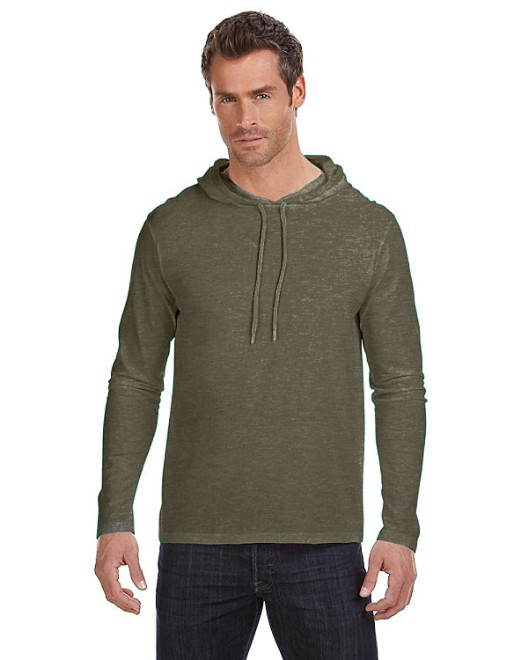 Picture of Anvil 987AN Adult Lightweight Long-Sleeve Hooded T-Shirt