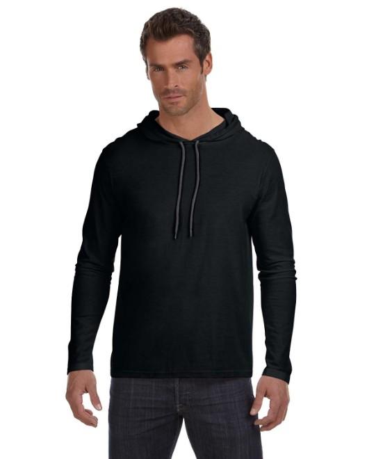 987AN Anvil Adult Lightweight Long-Sleeve Hooded T-Shirt